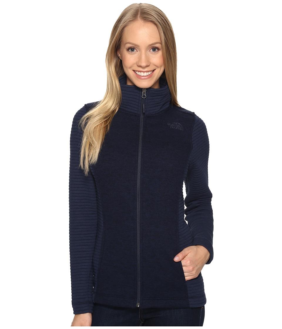 The North Face - Indi Full Zip Jacket (Cosmic Blue Heather/Cosmic Blue (Prior Season)) Women's Coat