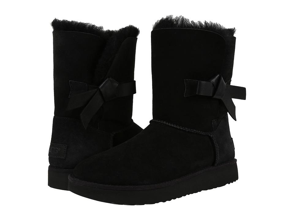 UGG - Classic Knot Short (Black) Women's Shoes