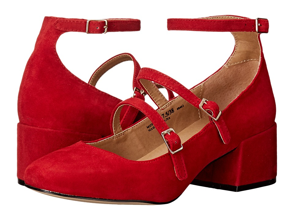 Chinese Laundry - Moto (Red Kid Suede) Women's Shoes