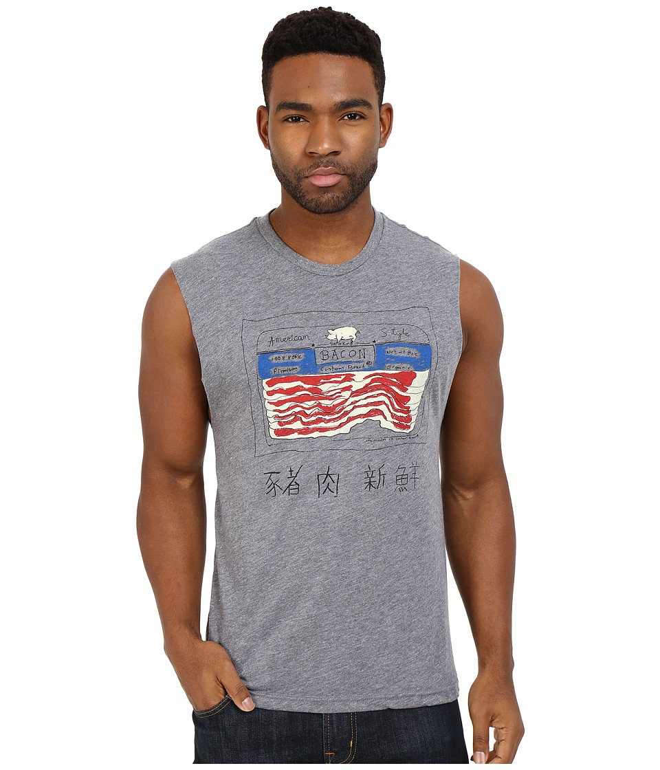 Custom Ketchup - Bacon Muscle Tee (Grey) Men's T Shirt
