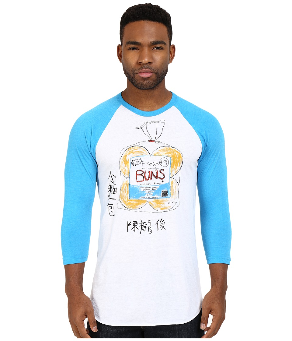 Custom Ketchup - Buns Blue Baseball (White/Blue) Clothing