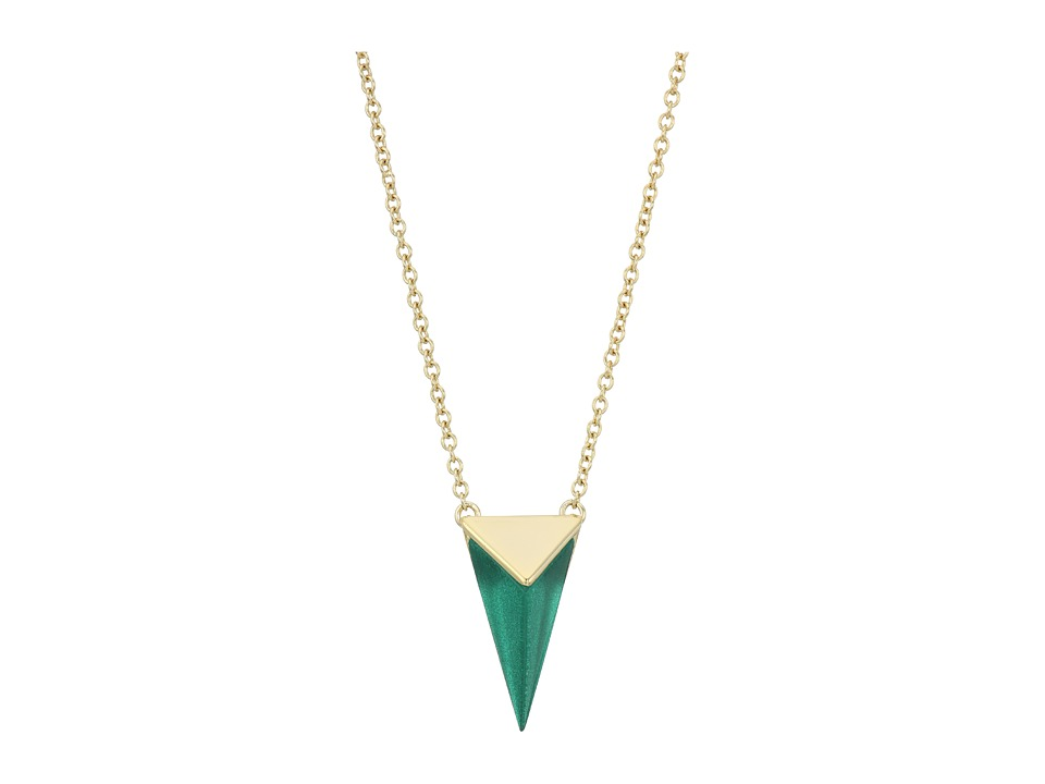 Alexis Bittar - Faceted Pyramid Pendant Necklace (Jungle Green) Necklace