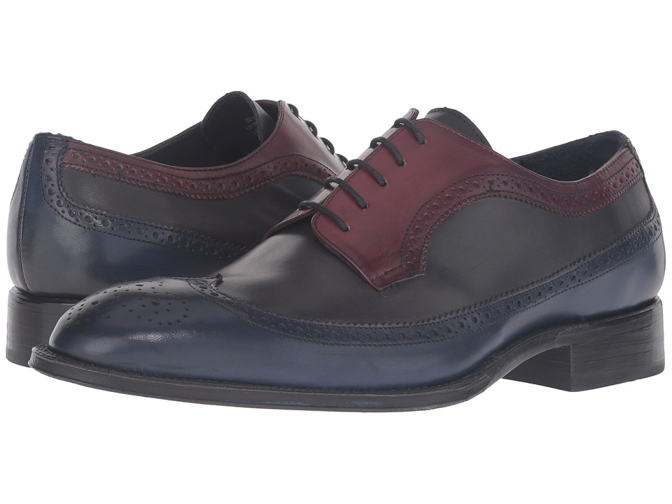 Messico - Doroteo Welt (Navy/Dark Grey/Burgundy) Men's Shoes