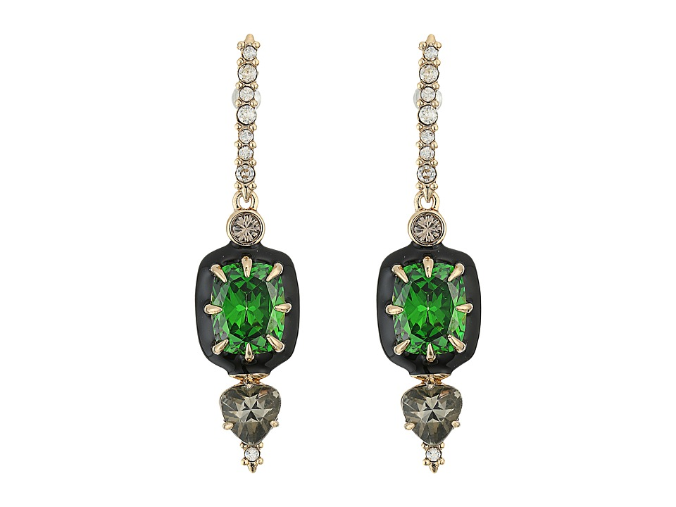Alexis Bittar - Enamel Framed Custom Gemstone Dangling Post Earrings (10K Gold) Earring