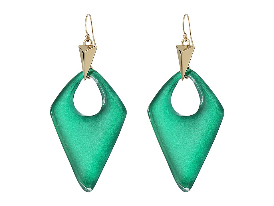 Alexis Bittar - Pointed Pyramid Drop Earrings (Jungle Green) Earring