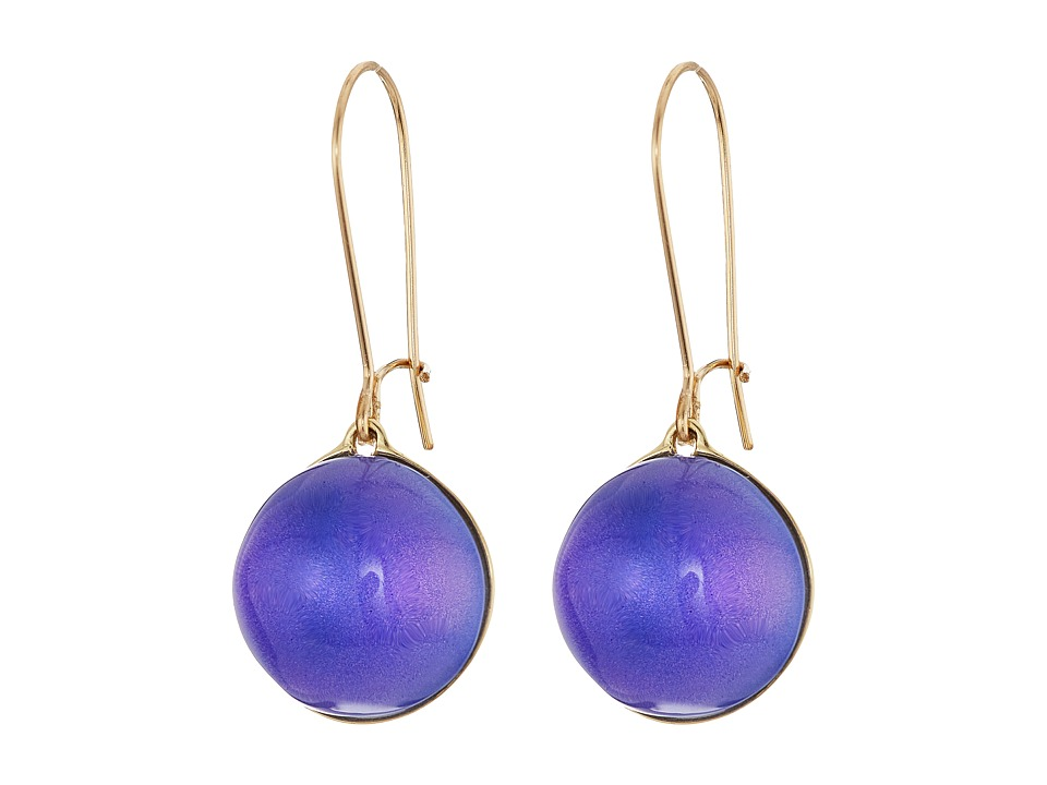 Alexis Bittar - Dangling Sphere Kidney Wire Earrings (Virtual Violet) Earring