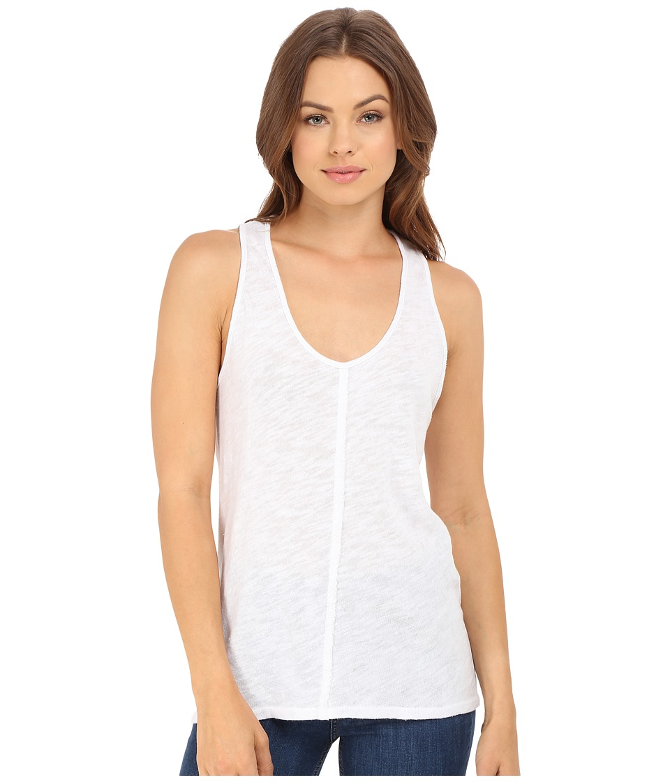 Project Social T - Textured Tank Top (White) Women's Sleeveless