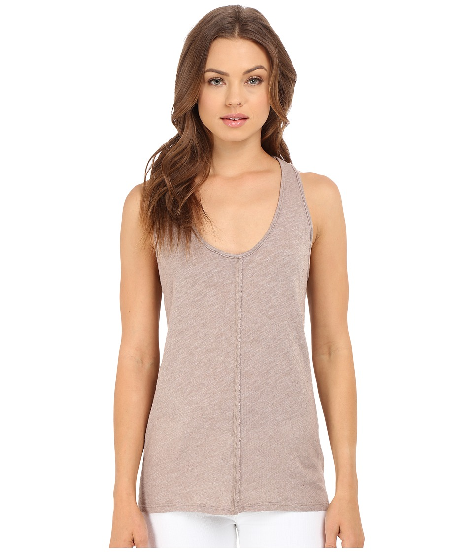Project Social T - Textured Tank Top (Sepia) Women's Sleeveless