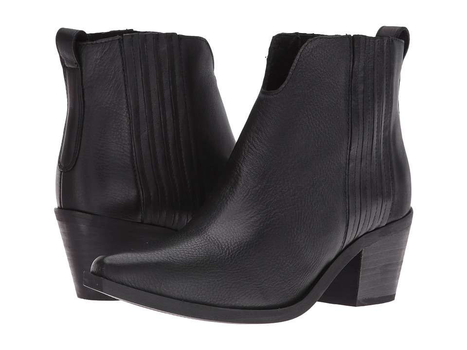 Steve Madden Webster (Black Leather) Women