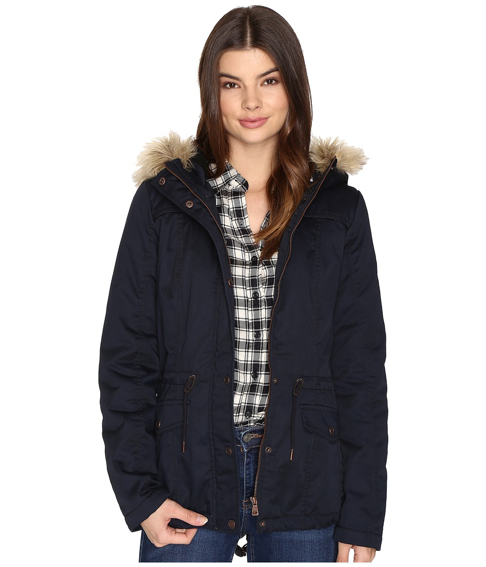 ONLY - Kate Short Canvas Parka (Blue Graphite) Women's Coat