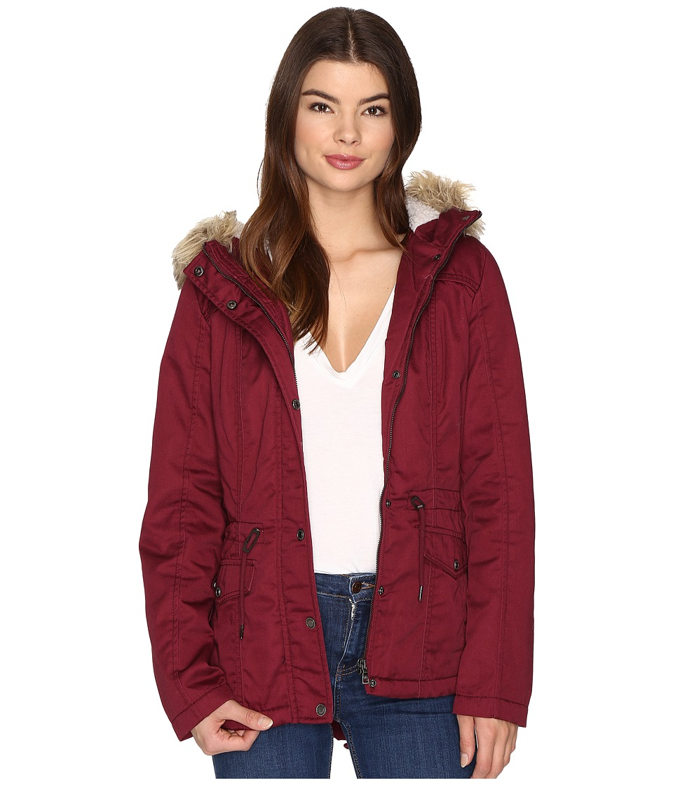 ONLY - Kate Short Canvas Parka (Windsor Wine) Women's Coat