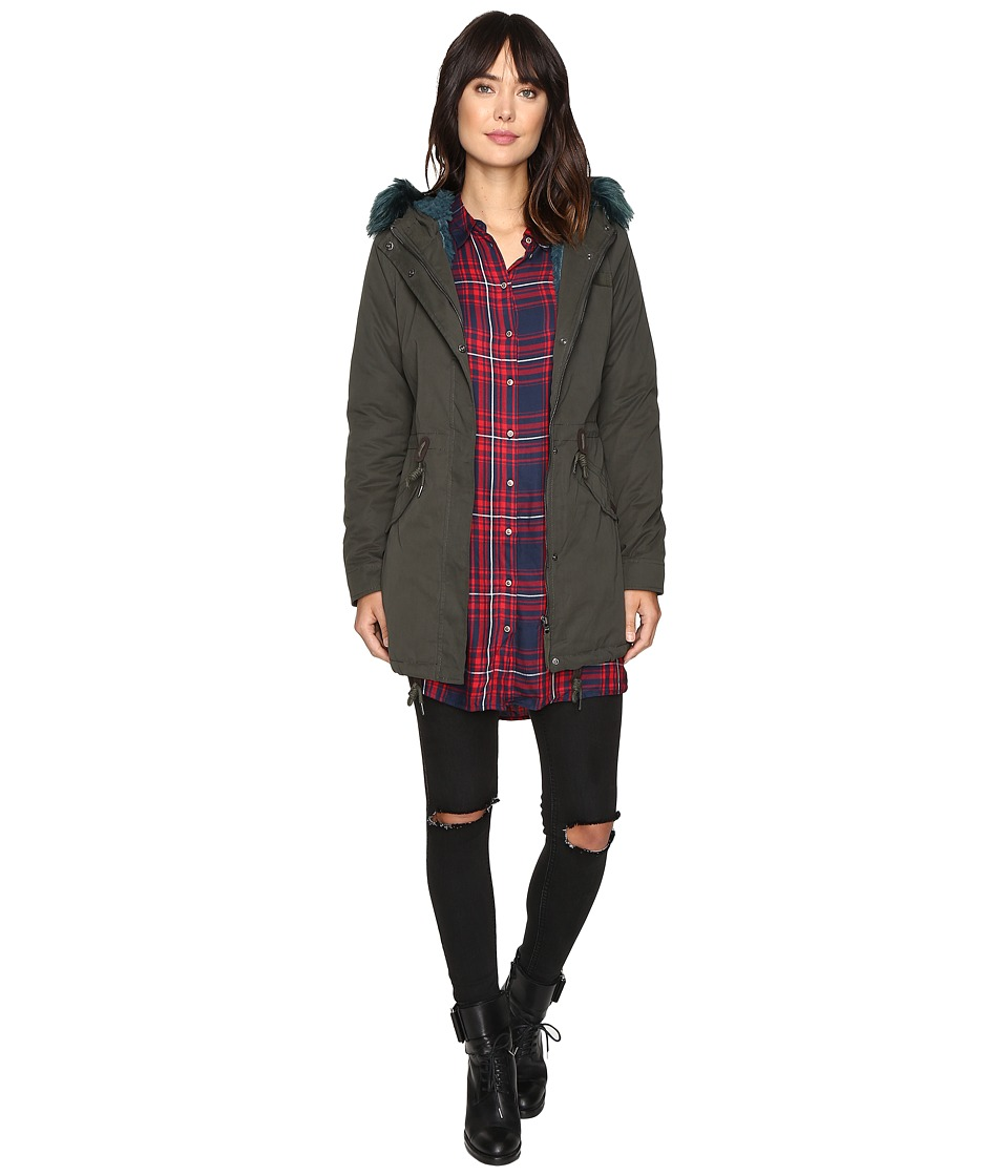 ONLY - Blog Contrast Fur Parka (Peat) Women's Coat