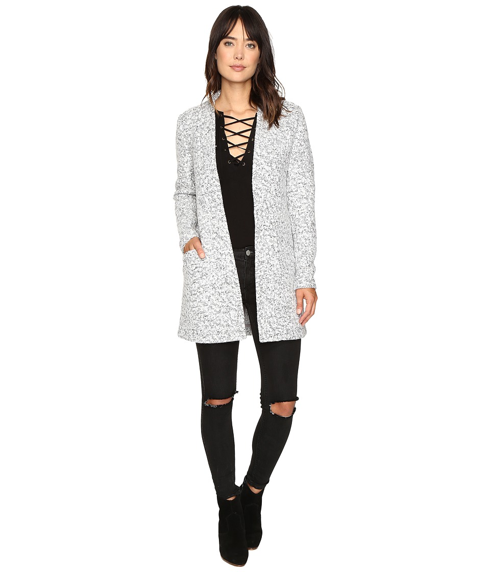 ONLY - Monday Wool Coatigan (Light Grey Melange) Women's Coat