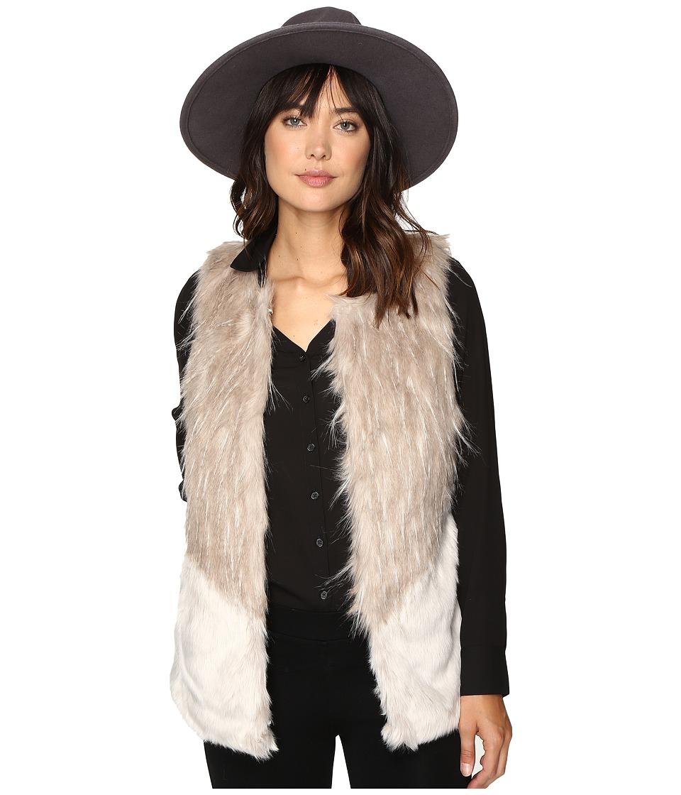 ONLY - Tilde Fur Mix Waistcoat (Deep Taupe) Women's Coat