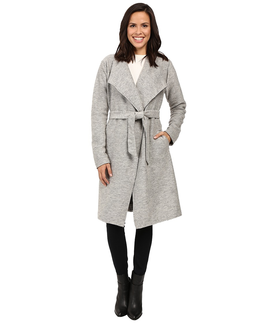 ONLY - Uma Long Wool Coatigan (Light Grey Melange) Women's Coat