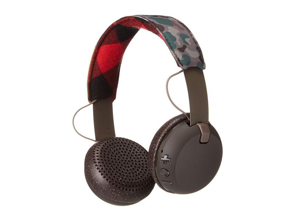 Skullcandy - Grind Wireless (Tan/Camo/Brown) Headphones