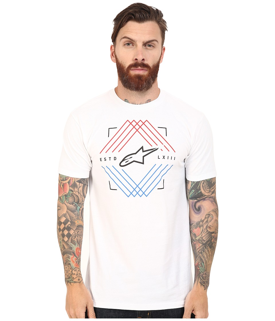 Alpinestars - Peaks Tee (White) Men's T Shirt