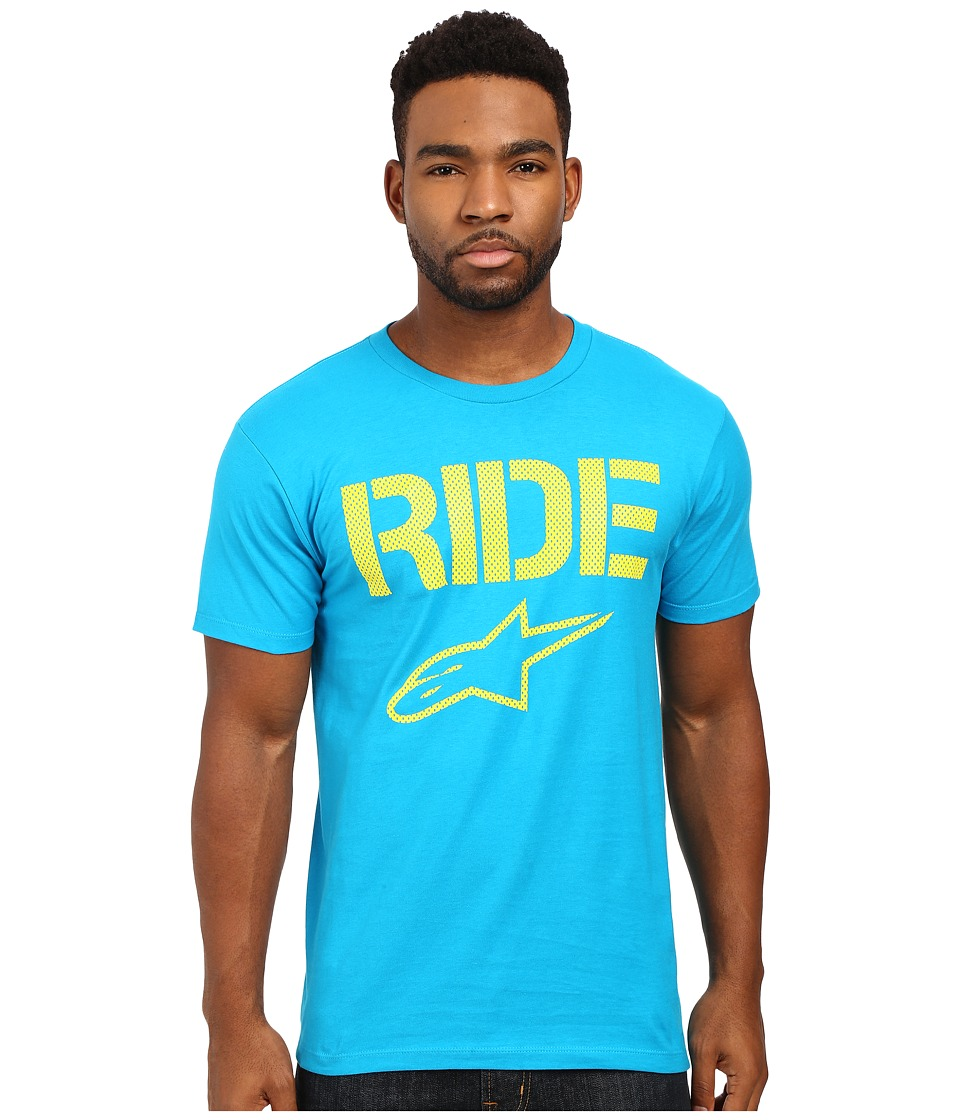 Alpinestars - Ride Mesh Tee (Turquoise) Men's T Shirt