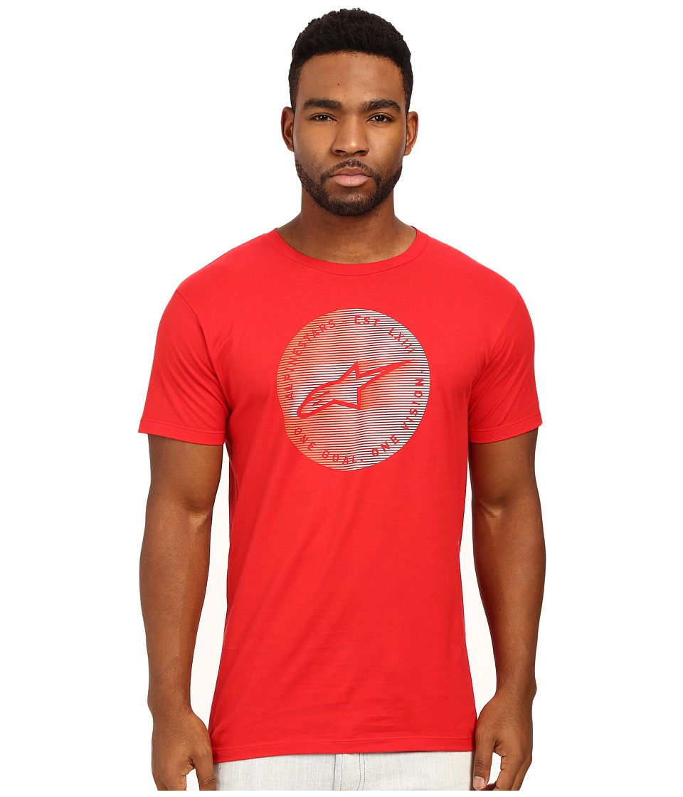 Alpinestars - Blur Tee (Red) Men's T Shirt