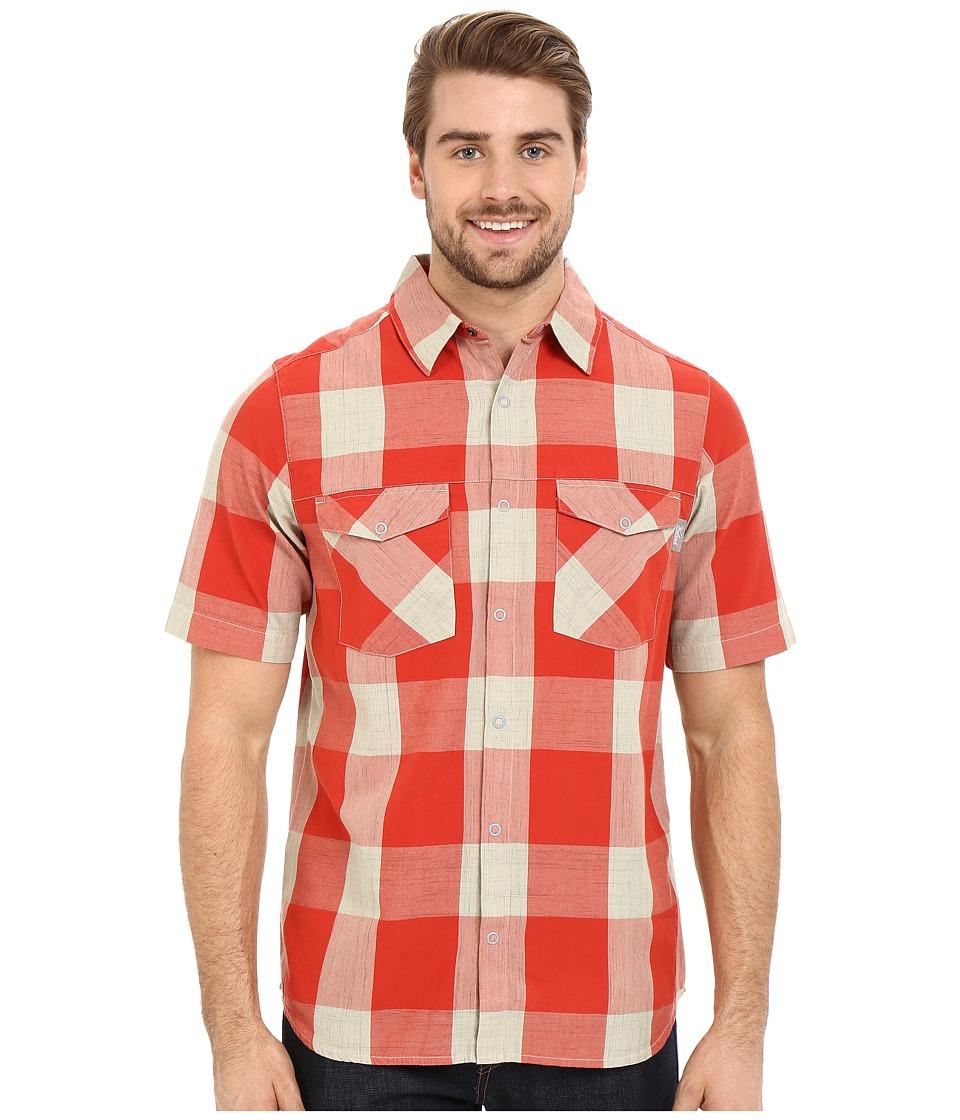 Woolrich - Zephyr Ridge Space Dye Shirt Modern Fit (Flash Red) Men's Short Sleeve Button Up