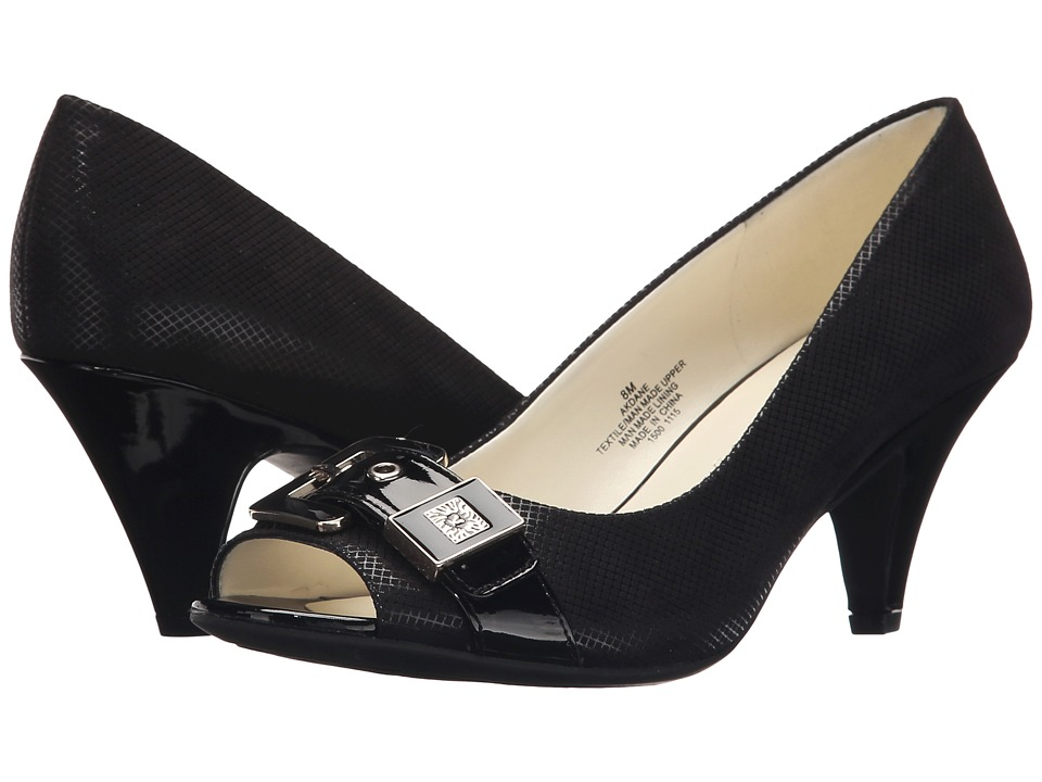 Anne Klein Dane (Black/Black Fabric) Women