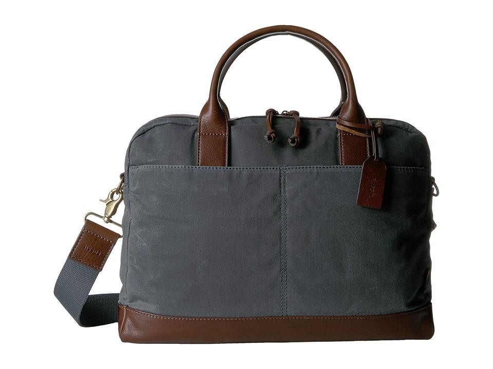 Fossil - Wyatt Top Zip Workbag (Grey) Bags