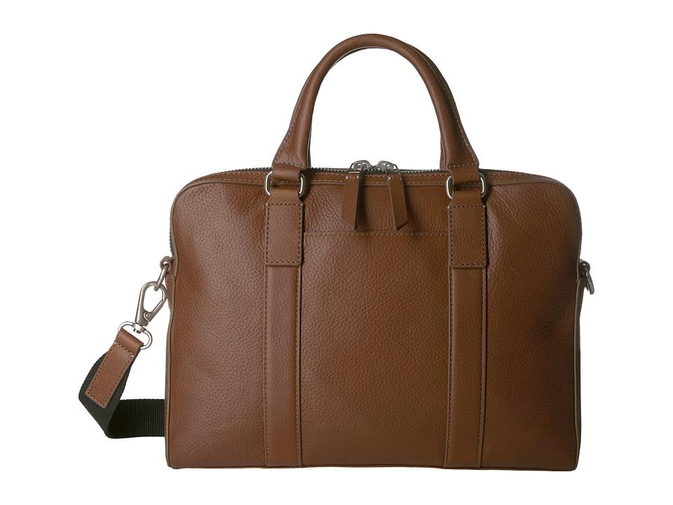 Fossil - Mayfair Top Zip Workbag (Cognac) Bags