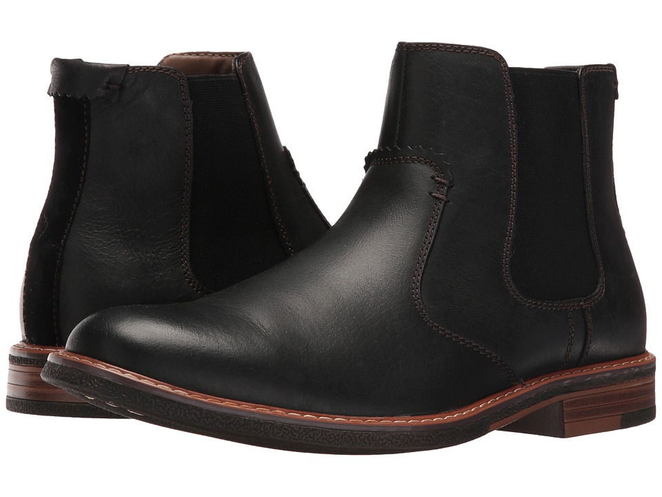 Dockers - Badger (Black Burnished Full Grain) Men's Pull-on Boots