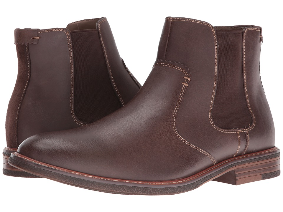 Dockers - Badger (Red Brown Burnished Full Grain) Men's Pull-on Boots