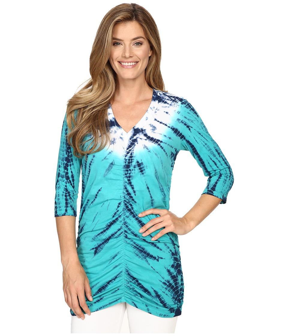 XCVI - Mission V-Neck (Radial Wash/Mermaid) Women's Clothing