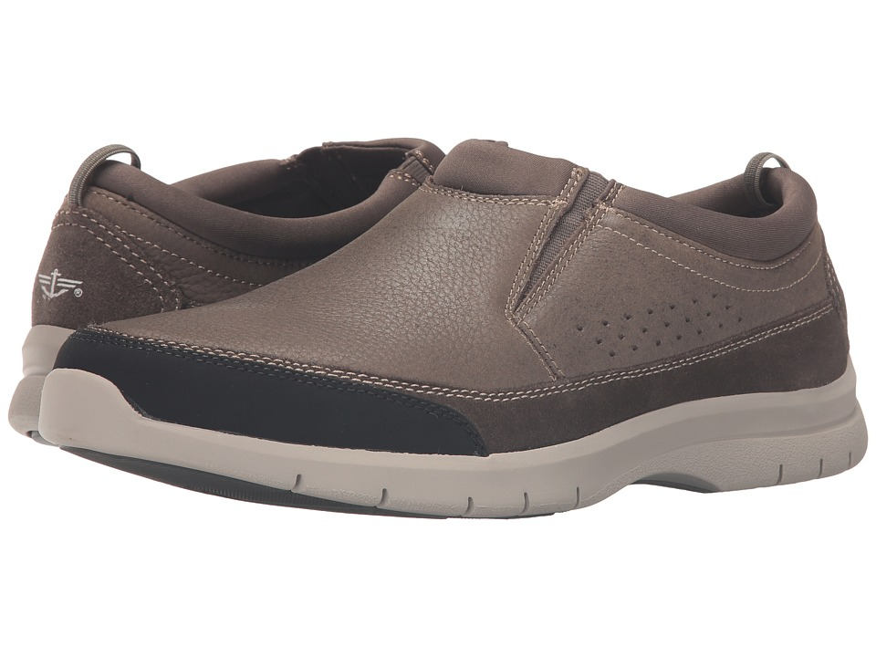 Dockers - Garvey (Light Grey Tumbled Nubuck) Men's Slip on Shoes