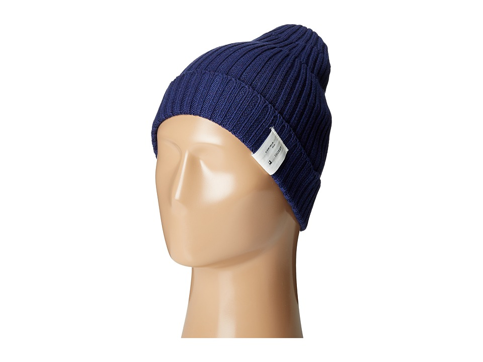 Scotch & Soda - Rib Knitted Beanie (89 Indigo) Beanies