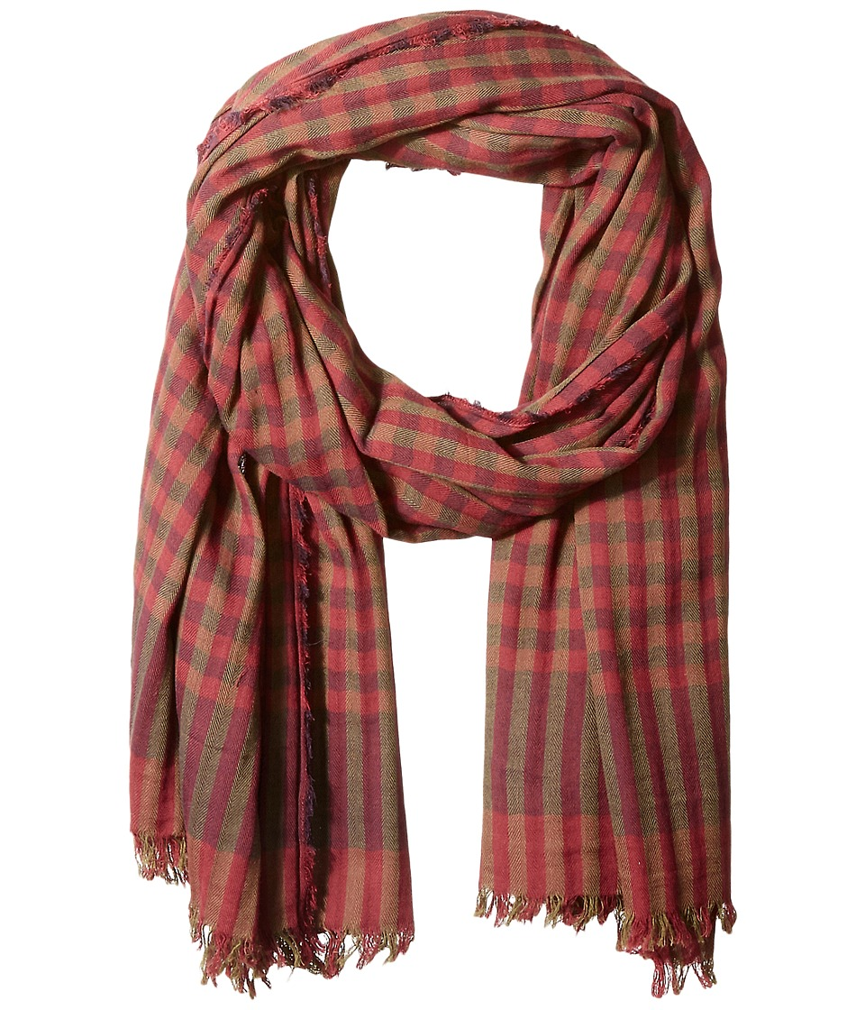 Scotch & Soda - Gentleman's Scarf in Lightweight Cotton Quality with Herringbone Patterns (17 Red Khaki) Scarves