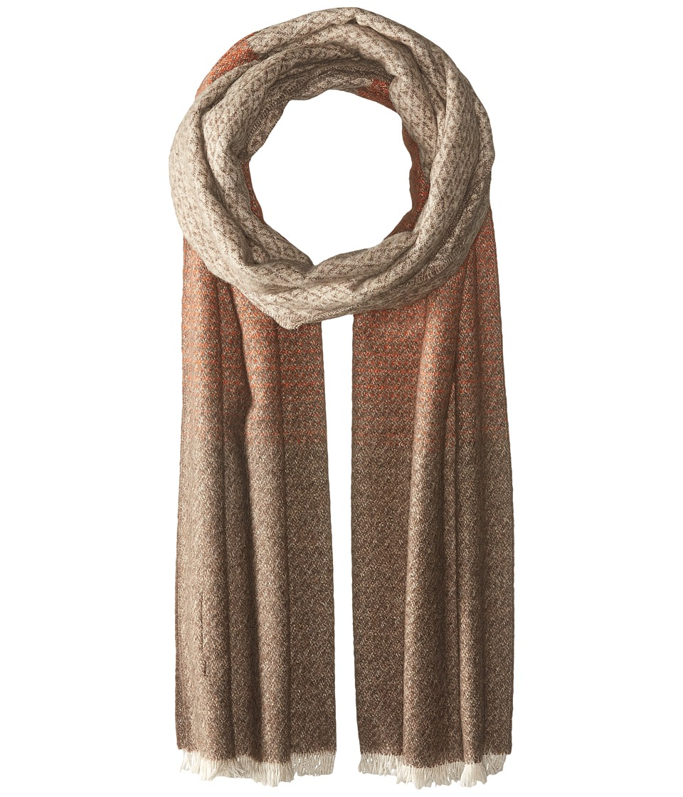 Scotch & Soda - Gentleman's Scarf in Soft Wool Blend Quality with Blanket Inspired Pattern (18 Brown/Beige) Scarves