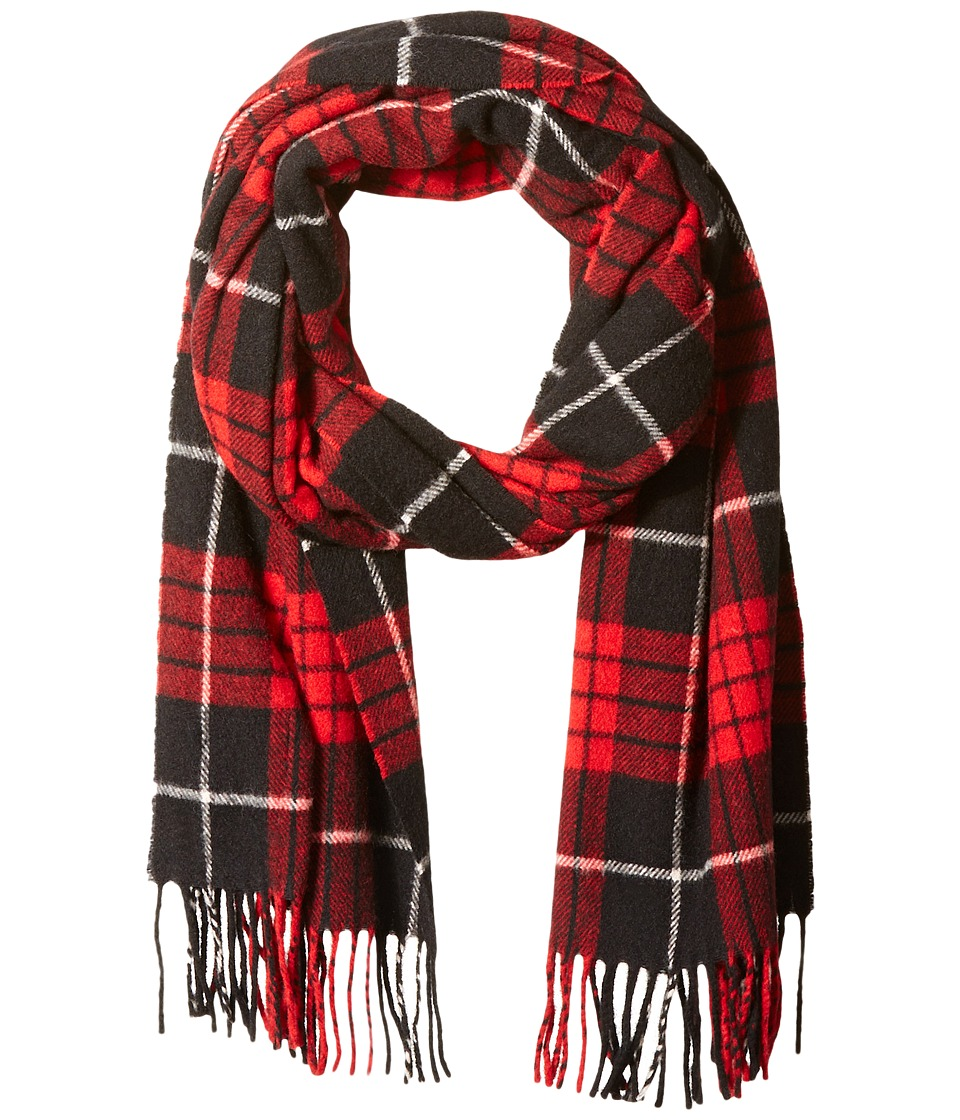 Scotch & Soda - Classic Scarf in Brushed Quality with Check Pattern (18 red black white) Scarves