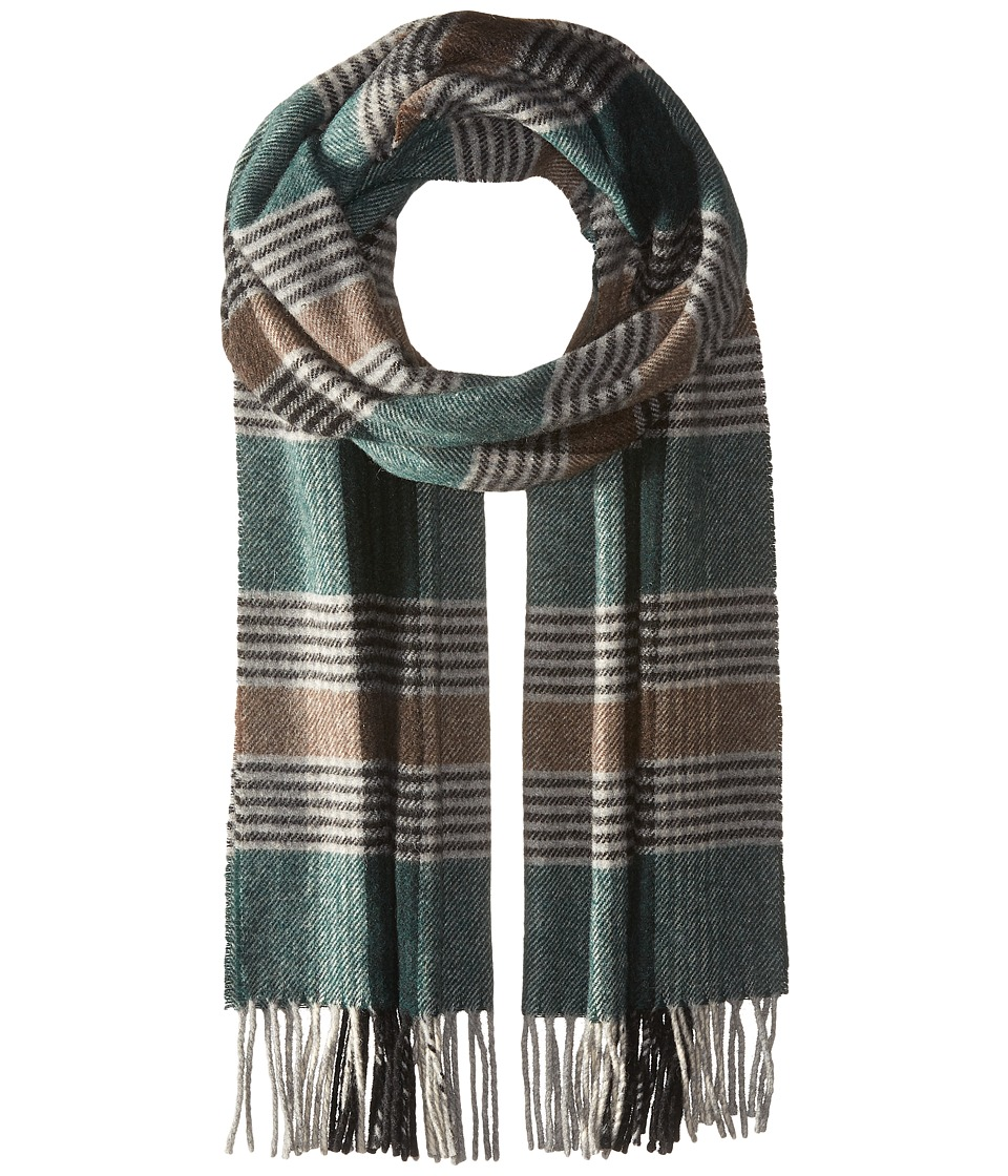 Scotch & Soda - Classic Scarf in Brushed Quality with Check Pattern (20 green brown grey) Scarves
