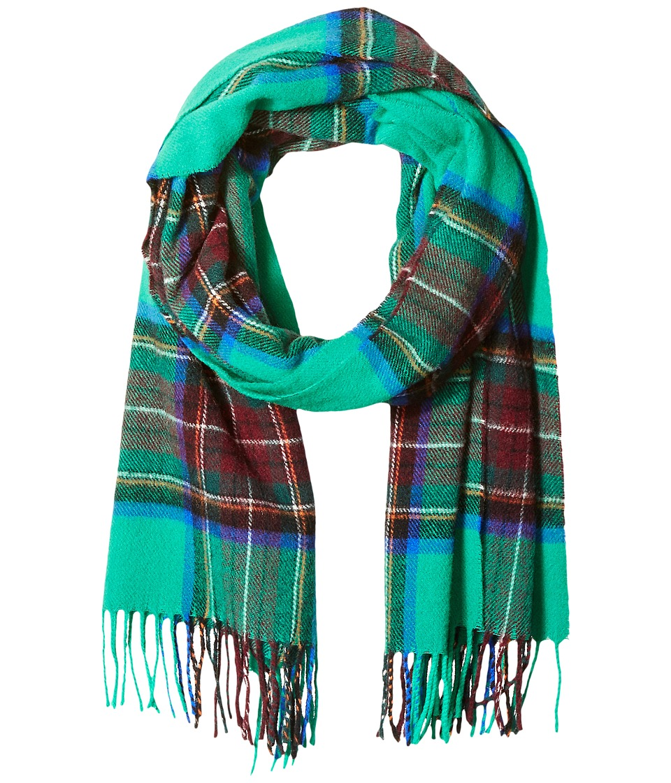 Scotch & Soda - Classic Scarf in Brushed Quality with Check Pattern (21 green blue red) Scarves