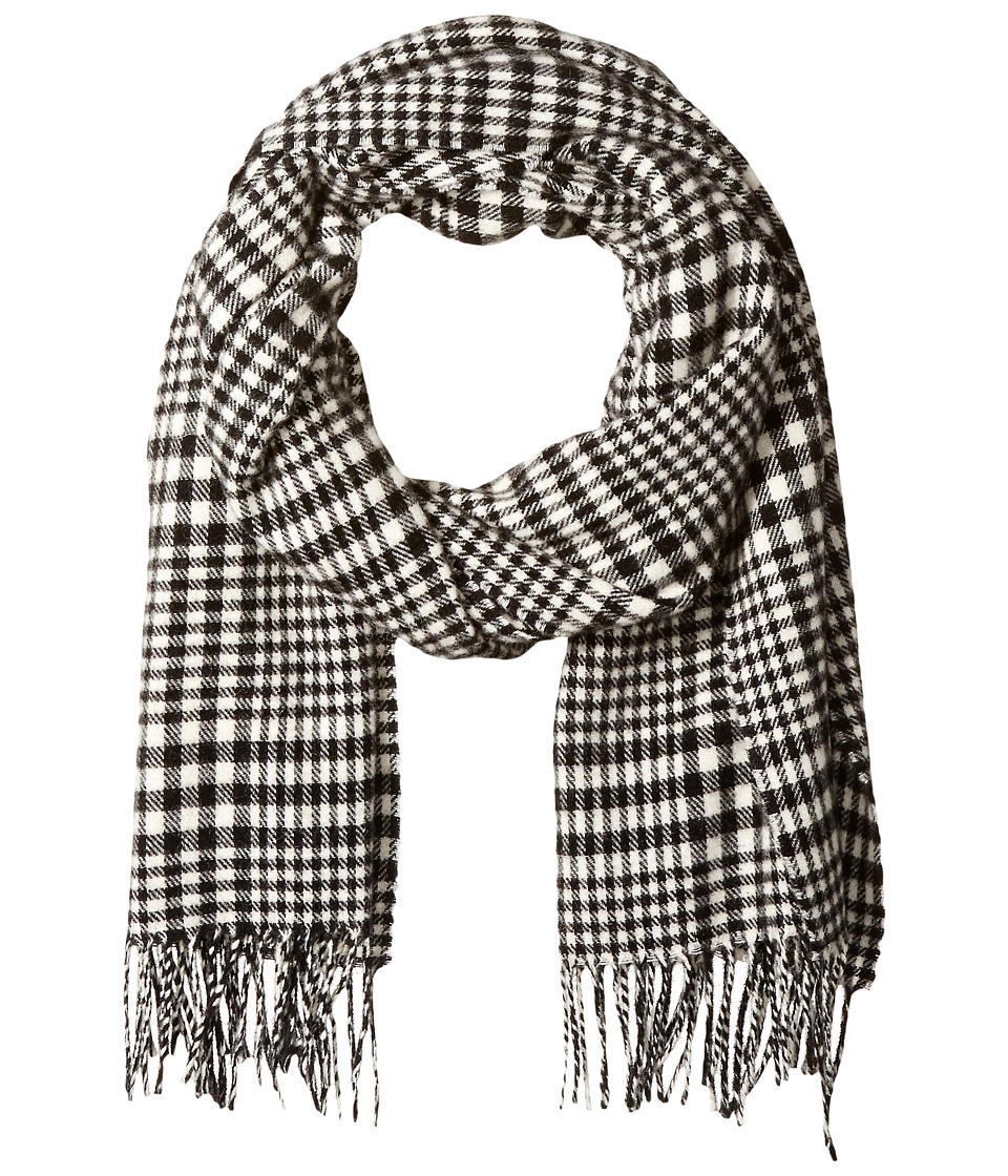Scotch & Soda - Classic Scarf in Brushed Quality with Check Pattern (2C Black cream) Scarves