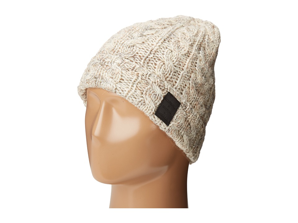 Scotch & Soda - Beanie in Wool Quality with Cable Knit Pattern (1F Ecru) Beanies