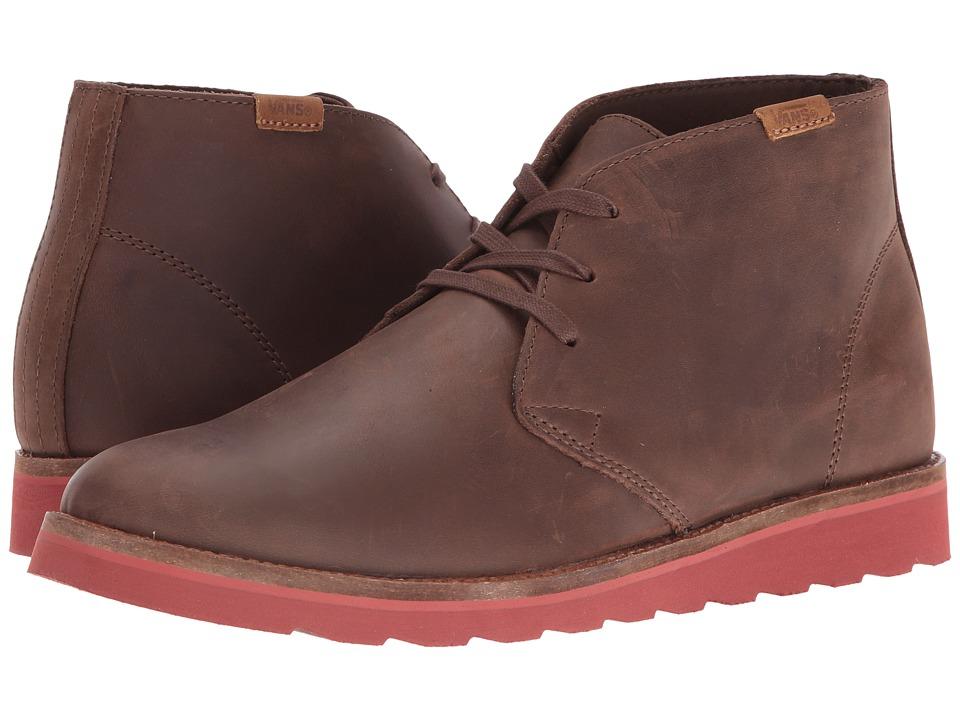Vans - Desert Chukka ((Leather) Brown/Burnt Henna) Men's Shoes