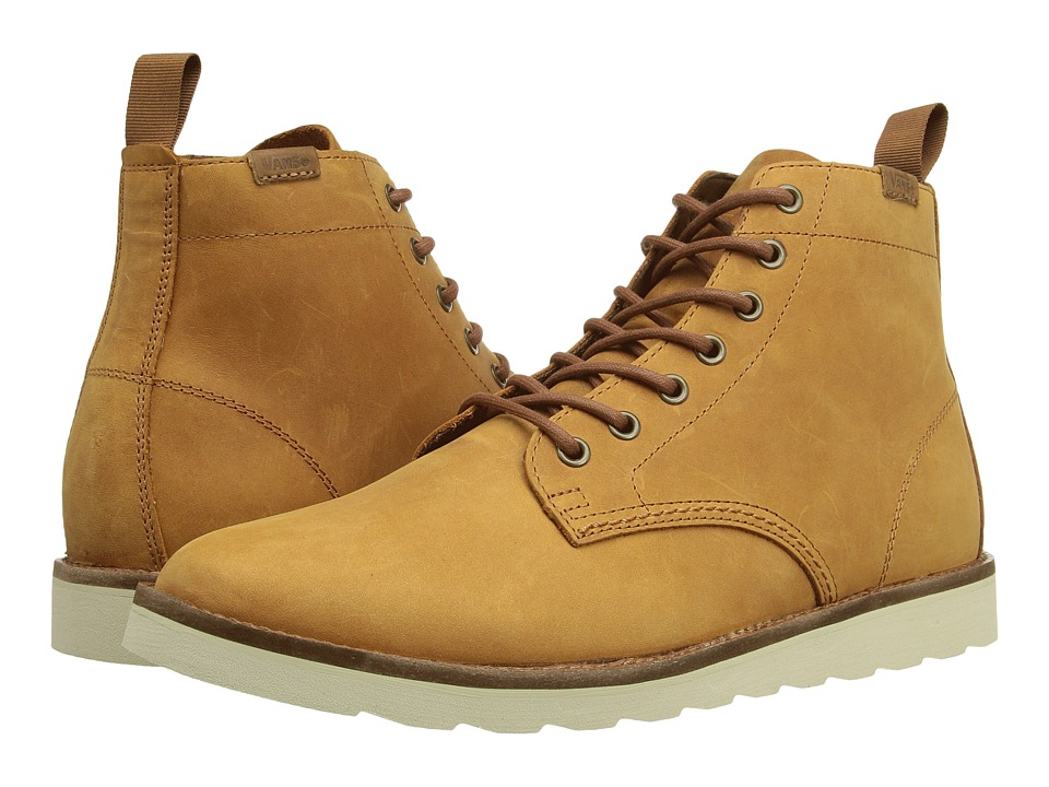 Vans - Sahara Boot ((Leather) Light Brown) Men's Lace-up Boots