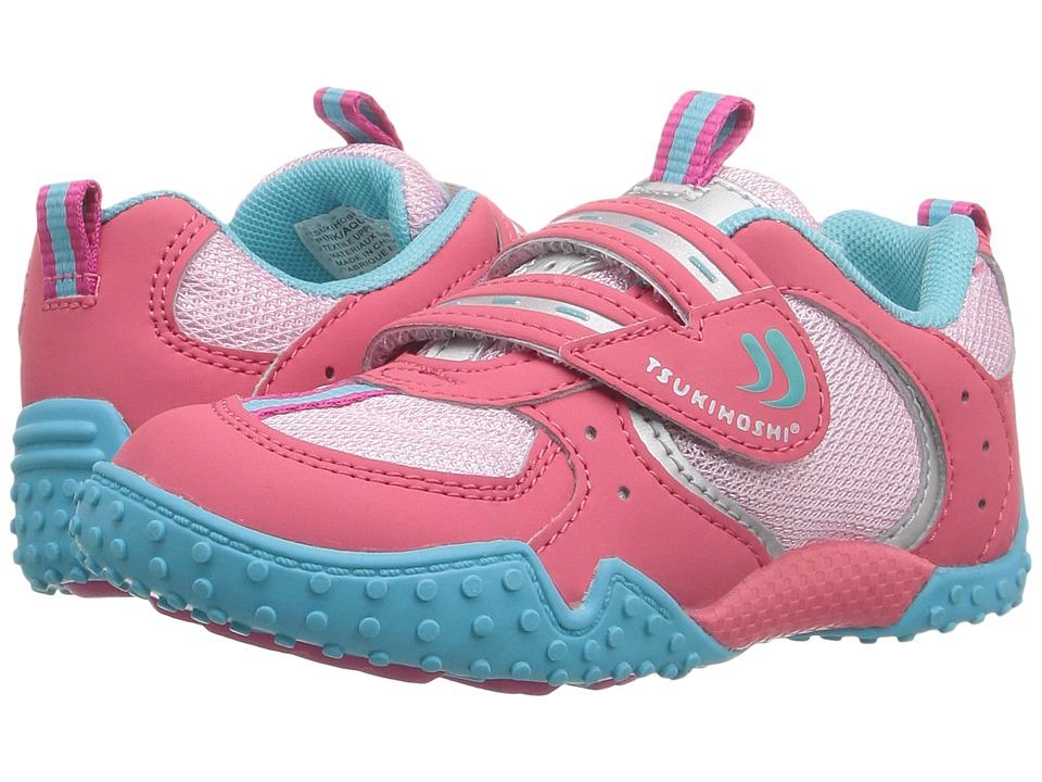 Tsukihoshi Kids - Wheel (Toddler/Little Kid) (Pink/Aqua) Girls Shoes