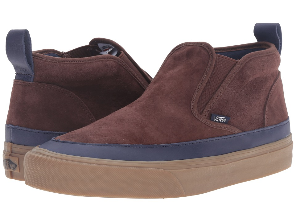 Vans - Mid Slip SF MTE ((MTE) Brown/Navy/Gum) Men's Skate Shoes