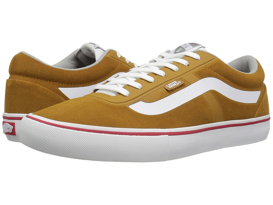Vans - AV Rapidweld Pro (Golden Brown/White) Men's Skate Shoes