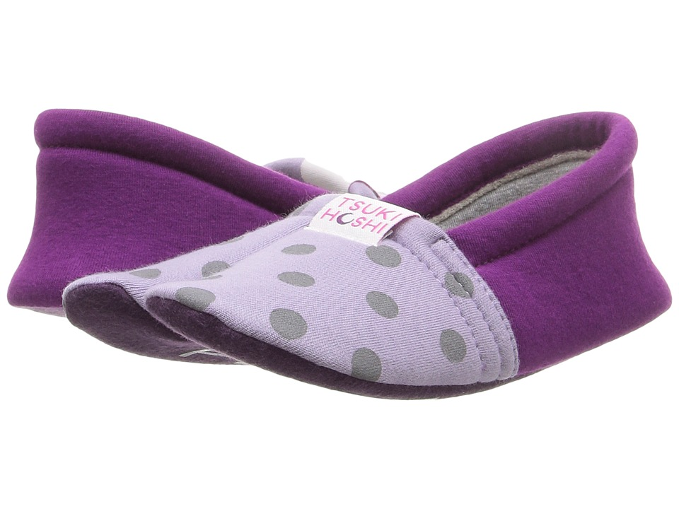 Tsukihoshi Kids Ninja (Toddler/Little Kid/Big Kid) (Lavender Dots) Girls Shoes
