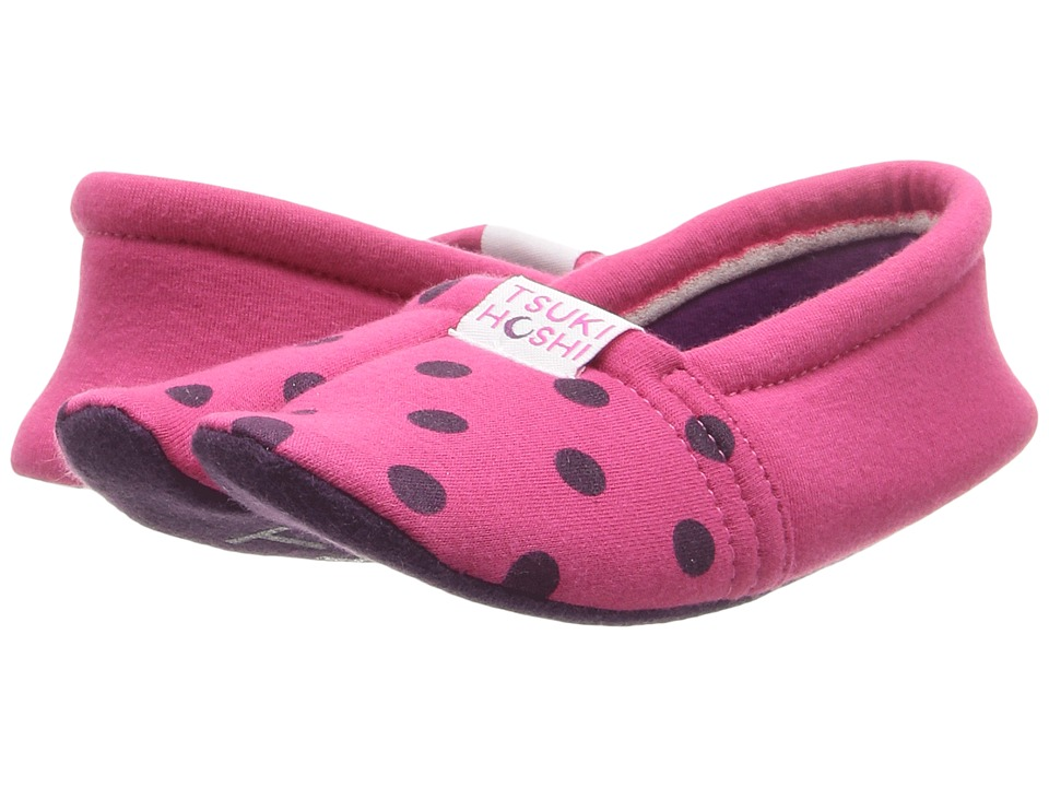 Tsukihoshi Kids Ninja (Toddler/Little Kid/Big Kid) (Fuchsia Dots) Girls Shoes