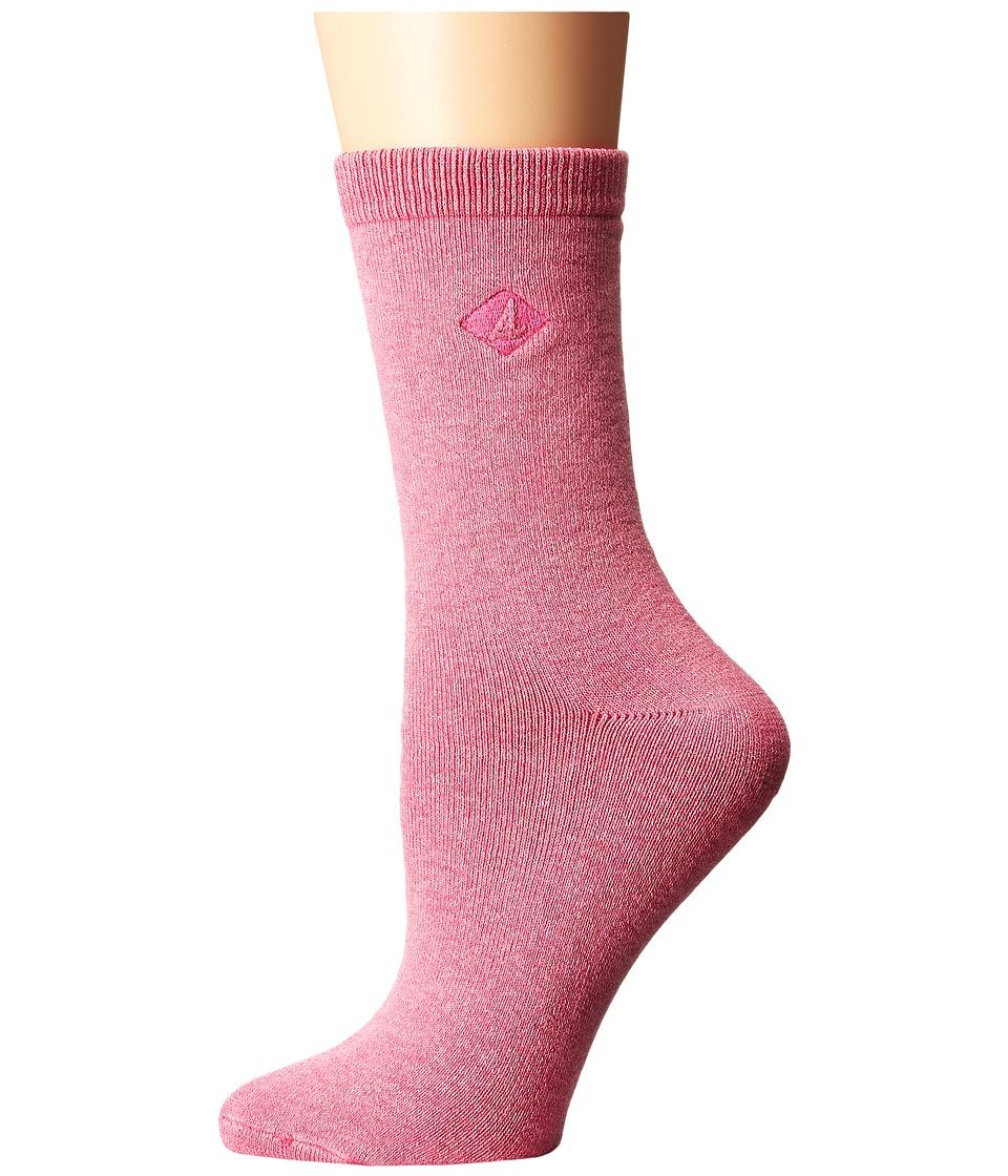 Sperry - Solid Salt Wash Full Cushion Crew (Fuchsia Purple) Women's Crew Cut Socks Shoes