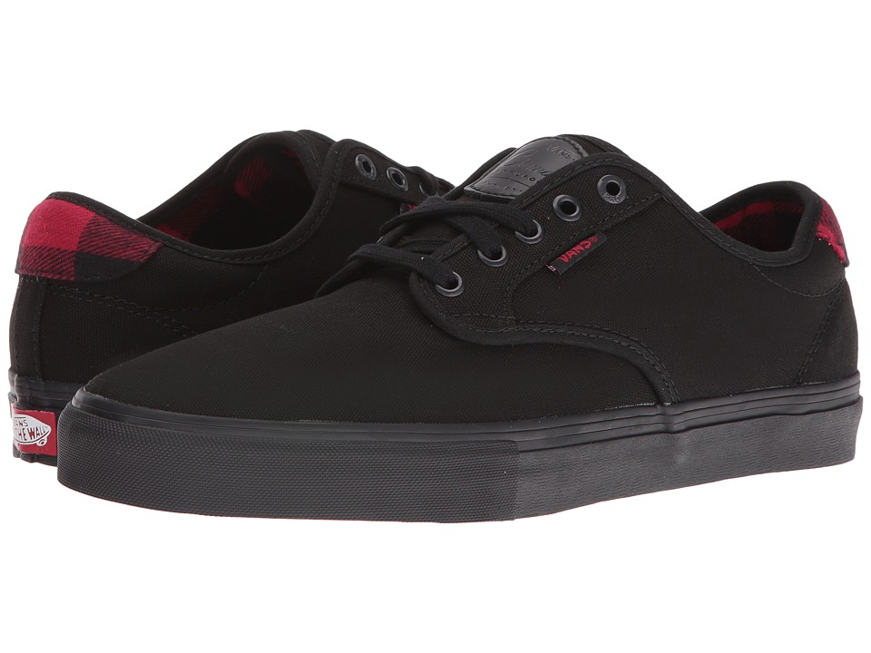 Vans - Chima Pro ((Flannel) Black/Black) Men's Skate Shoes