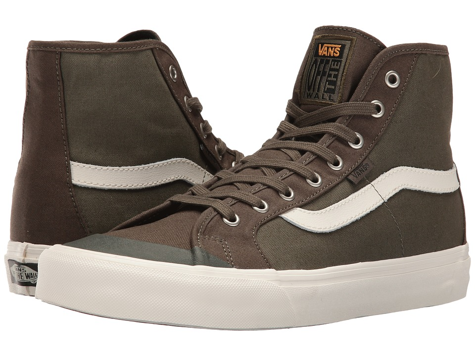 Vans - Black Ball Hi SF (Green/Green/Vintage Camo) Men's Shoes
