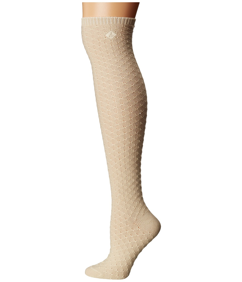 Sperry - Reverse Tuck Stitch Over the Knee (Ivory) Women's Knee High Socks Shoes